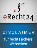 erecht24 siegel disclaimer blau